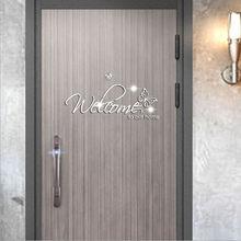 Pegatinas de espejo 3D para pared, adhesivo de bienvenida a nuestro hogar, adhesivos de decoración de habitaciones, Muraux, decoración de dormitorio