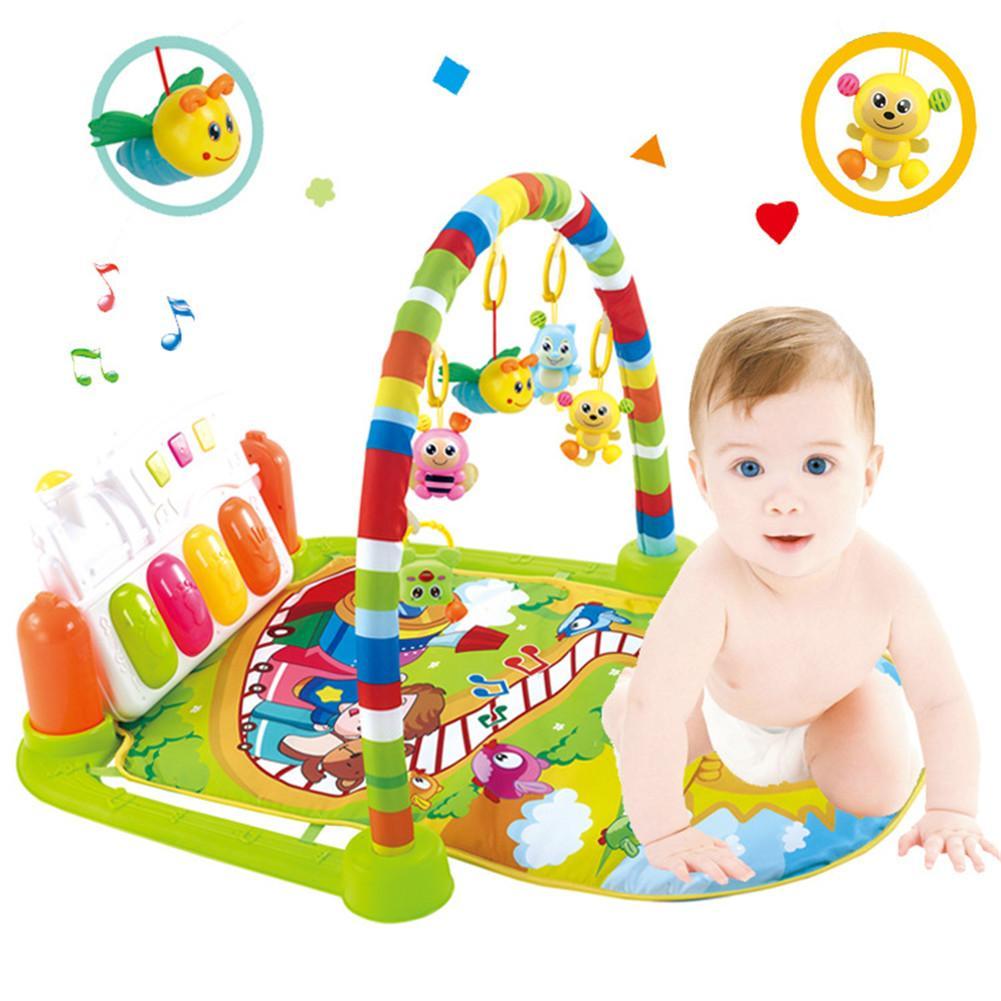 Musique infantile pédale Piano Fitness Rack Fitness jouet bébé ramper tapis bébé jouet