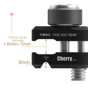 Image 5 - DSLR SLR Camera Metal Cable Clip Wire Clamp For Sony Nikon Canon Fujifilm Universal Cable Clamp Photo Studio Camera Cage Kit VCM