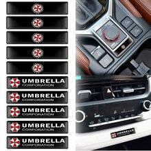 10 pçs estilo do carro guarda-chuva corporation 3d decorações adesivos decalques emblema emblema para peugeot citroen toyota honda nissan ford