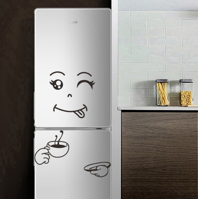 Cute sticker fridge happy deliciou