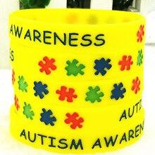 2019 Autism Awareness Autism Medical Alert Silicone Sports Bracelets & Bangles Fluorescent Rubber Fitness Wristband Bracelet все цены
