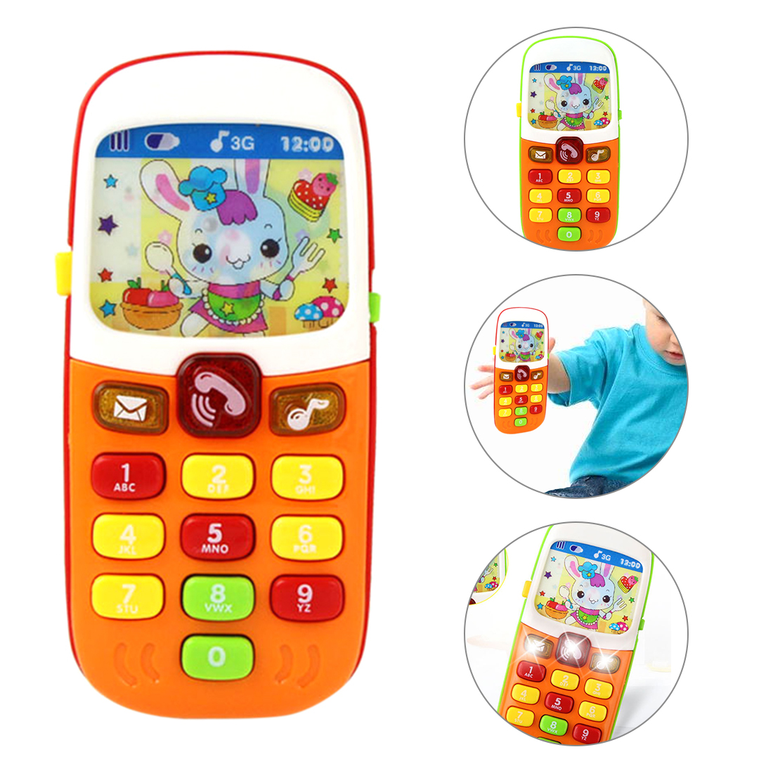 Children Cell Phone Toy Baby Educational Children Language Musical Cell Phone Hanging Bed Bell Baby Cell Phone Toy