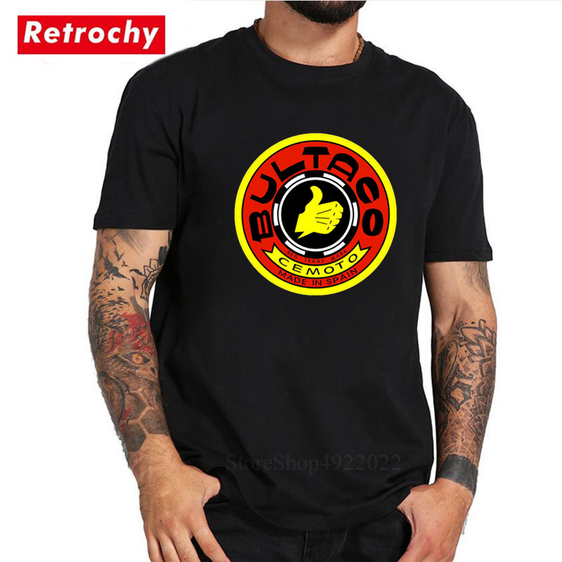 Bultaco Cemoto Motorcycles Logo Made In Spain T-shirt Men's New Brand Short Sleeves Tshirts Male Top Tees Boyfriends Gifts Shirt