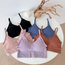 Padded Camisole Crop-Tops Underwear Lingerie Tank-Top Seamless Push-Up Female Sexy Femme