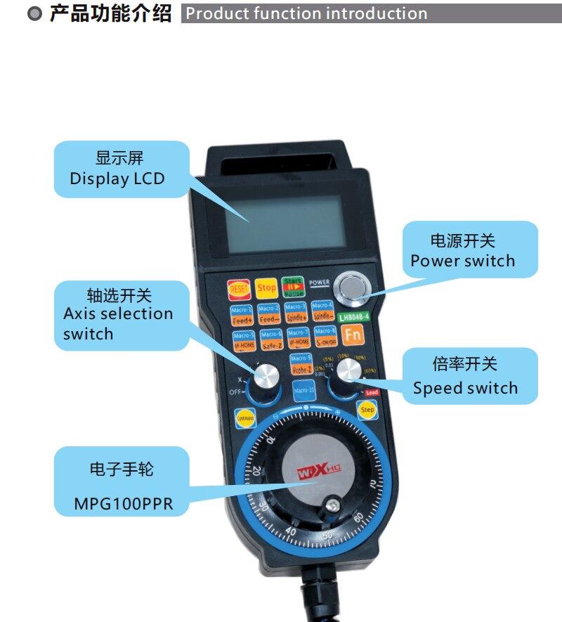 Cnc Maniglia Usb Wired Sistema di Controllo Mach3 Volantino Elettronico LHB04B 4/6 di Controllo per Cnc di Fresatura - 5