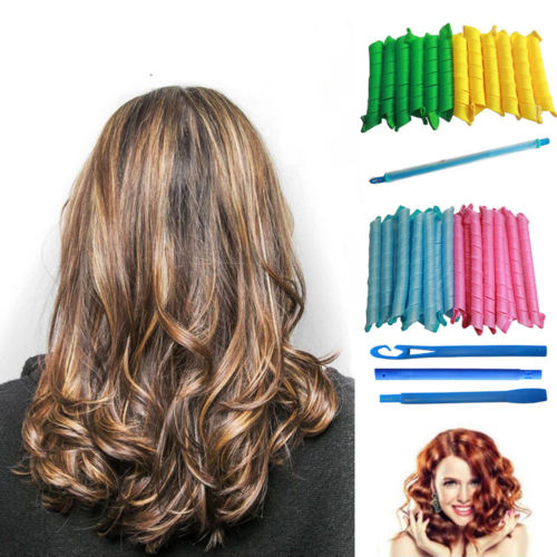 Hot Magic Water Wave Long Hair Curlers Curl Spiral Ringlets Leverage Hair Rollers Hairdressing Tool