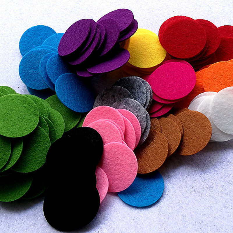 100pcs 3CM Round Colorful Felt Patches Fabric Pads Felts Flower Sewing Accessories Dolls Toys Home Wall Stickers Handmade Crafts
