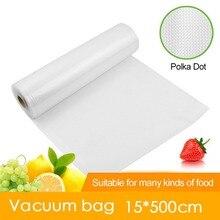 15*500 см 1 рулон, кухонные вакуумные пакеты для хранения пищевых продуктов, пакеты для вакуумного упаковщика, для длительного хранения свежих продуктов