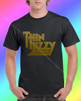 Oficjalna cienka Lizzy metaliczny złoty Metal Band Merch 21 Guns T Shirt męska koszula damska t-shirty odzież robocza t-shirty męskie t-shirty tanie i dobre opinie SHORT CN (pochodzenie) COTTON Cztery pory roku Na co dzień Z okrągłym kołnierzykiem tops Z KRÓTKIM RĘKAWEM Sukno Drukuj