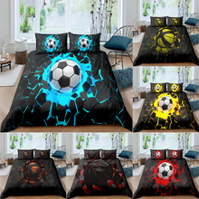 Bedding-Set Football-Duvet-Cover Decor-King Bedroom Queen Double-Size 3D Printed