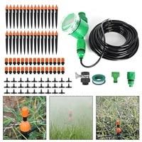 Kit automático do temporizador da mangueira da planta de micro-rega do pulverizador do gotejamento da irrigação da água do jardim 25m
