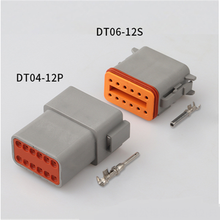 цена на 100 sets Kit Deutsch DT 12 Pin Waterproof Electrical Wire Connector plug Kit 22-16AWG DT04-12P DT06-12S