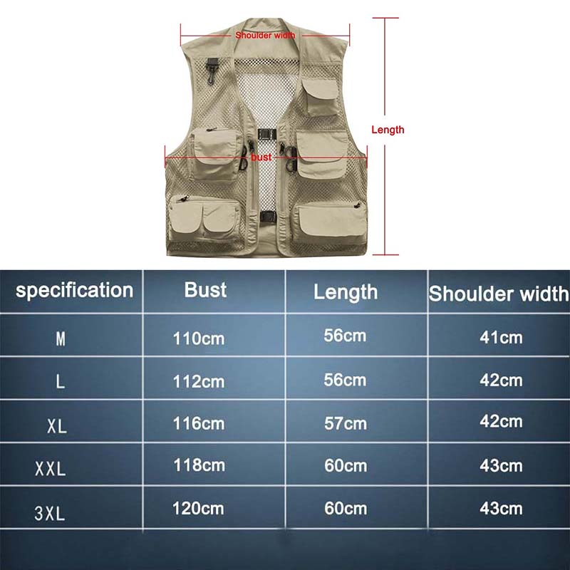Details about  /Outdoor Hiking Camping Ultralight Multi Pocket Fishing Vest Mesh Jackets Waist