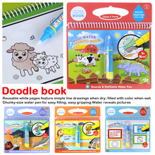 Magic Water Drawing Book Coloring Book Doodle & Magic Pen Painting Drawing Board For Kids Toys Birthday Gift недорого
