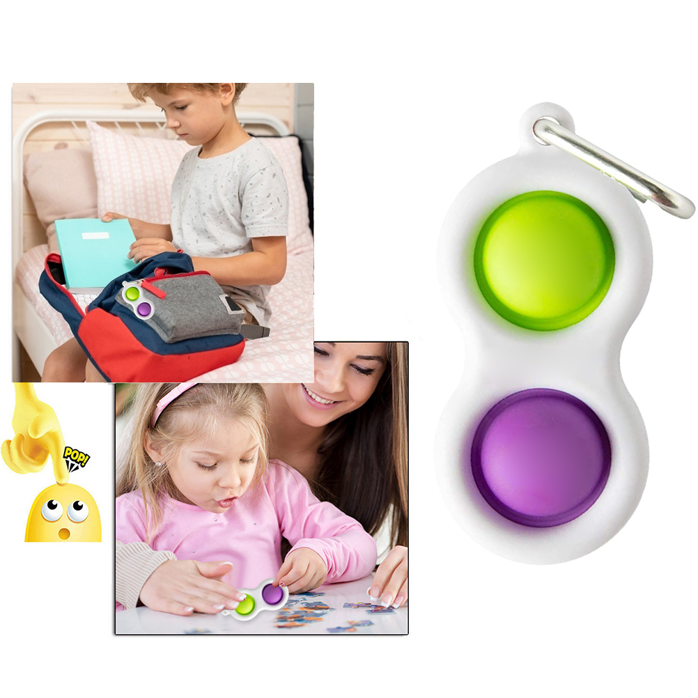 Sensory Toy Learning-Toys Fidget Brain-Teasers Baby Kids Simple Dimple Adults Intensive img2