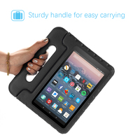 screen film For Amazon Fire 7 2019 Tablet Case EVA Shockproof Super Protection Cover Portable Handle Protective Stand Cover + Screen Film (2)