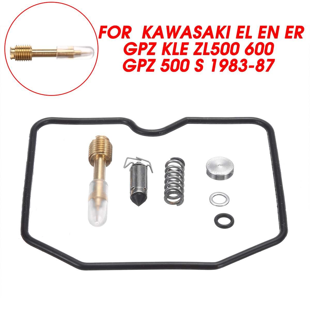 Kit de réparation de carburateur de moto Autoleader pour Kawasaki EL EN ER GPZ KLE ZL 500 600 GPZ 500 S 1983-1987