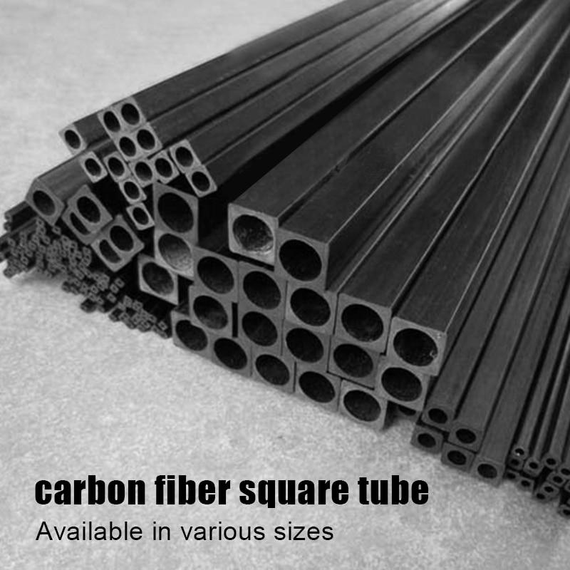 2pcs Carbon Fiber Square Tube Length 500mm High Strength Outer Diameter 1.4mm 1.7mm 2mm 2.5mm 3mm 4mm 5mm 6mm 8mm