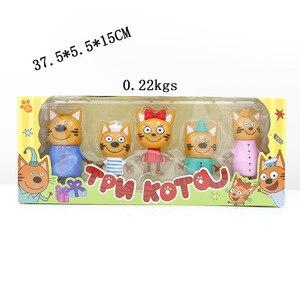 Image 4 - 2019 yeni sıcak 5 adet mutlu üç yavru rus aksiyon figürü oyuncak çocuk kediler e kedi modeli bebek çocuk oyuncak çocuk noel hediyesi
