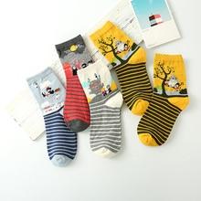 2019 New womens cotton sole chinchillas socks cartoon boat female anime jacquard Hot sale
