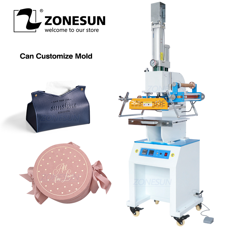 ZONESUN ZSP 890M2  Pneumatic Digital Hot Foil Stamping Machine Initial Leather Gift Box insole professional Embossing Machine|Tool Parts| |  - title=