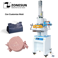 ZONESUN ZSP 890M2 Pneumatic Digital Hot Foil Stamping Machine Initial Leather Gift Box insole professional Embossing Machine