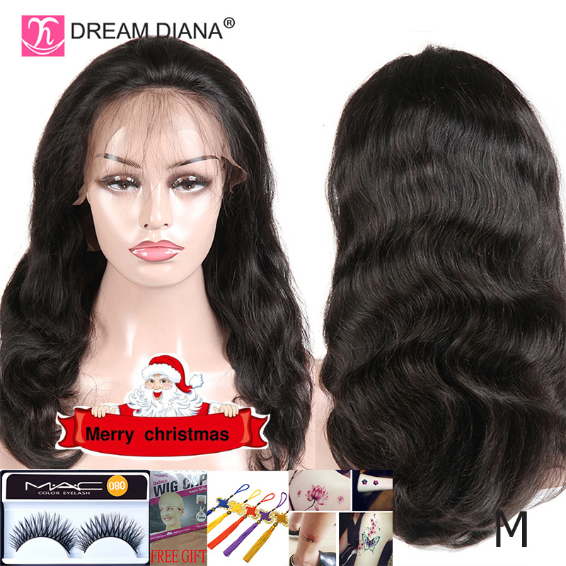 DreamDiana Brazilian Body Wave Full Lace Wig Remy Hair Wigs Full Lace Wig 8-28