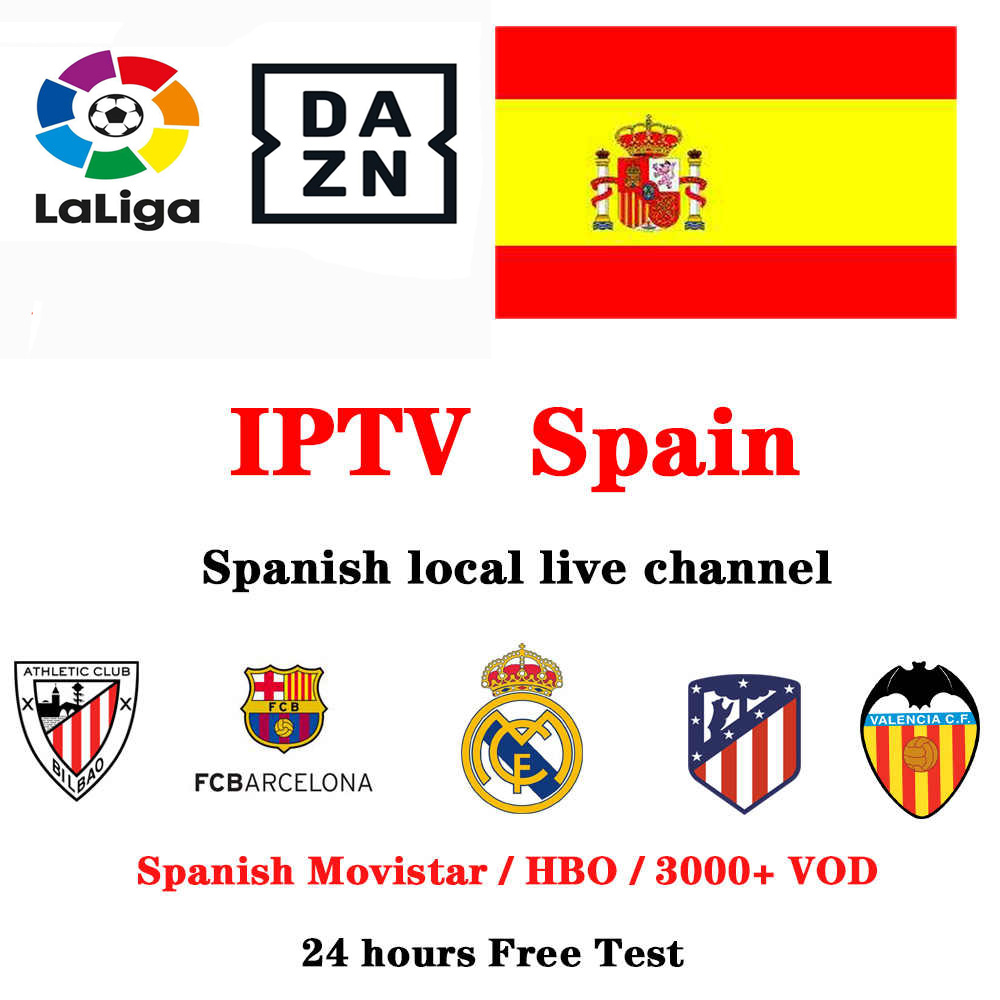 Spain M3U IPTV Subscription  HD Spain Local Channels  Movistar Sport Cinema Live Channels VOD For Android Tv Box Ios Tv Pc Pad