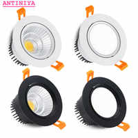 4 types round Dimmable Recessed LED Downlights 5w7w9w12w15w COB LED Ceiling Lamp Spot Lights AC110-220V LED Lamp Indoor Lighting