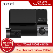 70mai A800 4K Dash Camera Ultra HD UHD 2160P Resolution + 70mai Rear Camera RC06 \u0028Optional