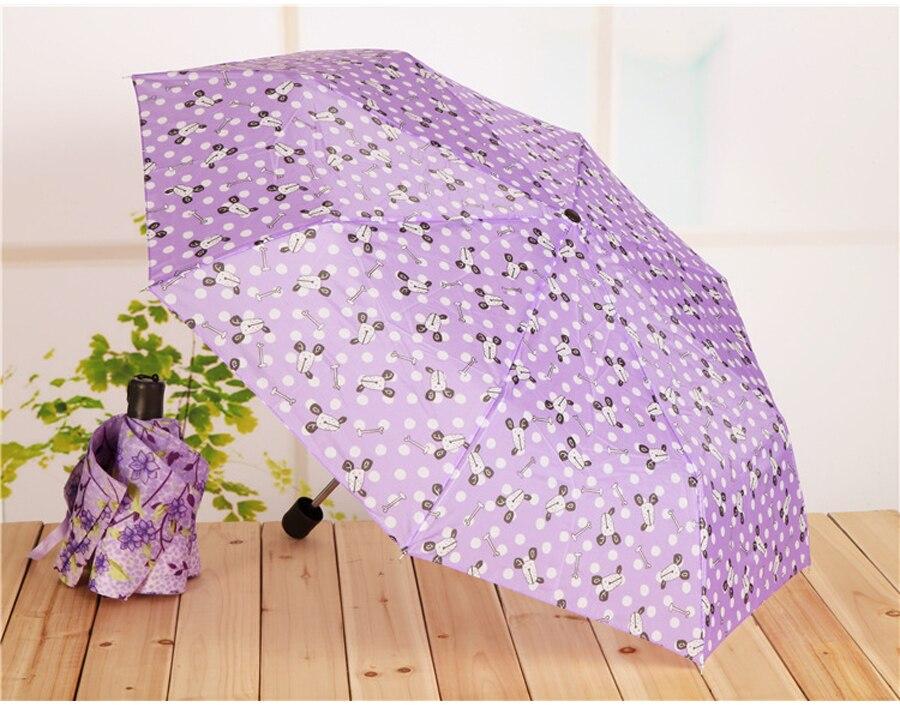 mix cores dobrável alça curta guarda-chuva cor sólida guarda-chuvas