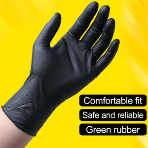 Nitrile-Gloves Latex Cleaning-Work Protective Health Safety Black 100pcs Food Catering