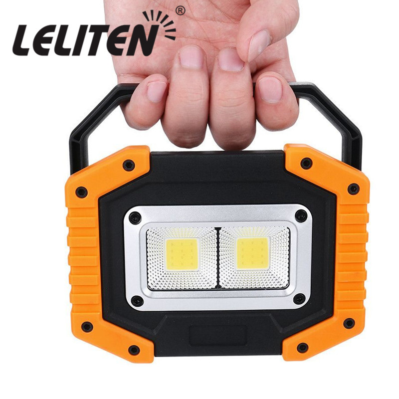 40W Led Portable Spotlight Led Work Light Rechargeable 18650 or AA Battery Outdoor Lamp For Hunting Camping Latern Flashlight(China)