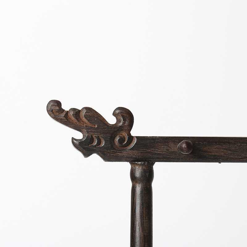 Titular de la pluma de caligrafía 12 gancho ala de pollo madera colgante soporte de pluma grifo hecho a mano de madera tallado soporte de cepillo