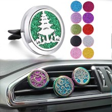 Car Air Freshener Essential Oil Diffuser Clip Christmas Tree Snowflake Aroma Perfume Aromatherapy Locket Jewelry