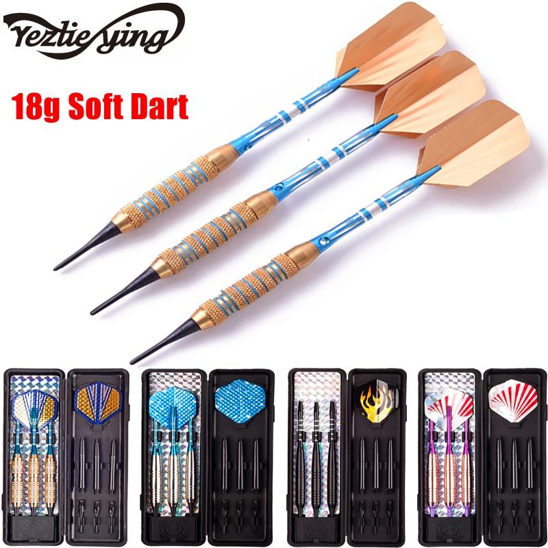 New YEZLIEYING 3PC Professional Darts 18g Safty Soft Darts Indoor Electronic Darts Aluminum Alloy Soft Tip Dardos