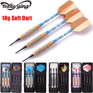 New YEZLIEYING 3PC Professional Darts 18g Safty Soft Darts Indoor Electronic Darts Aluminum Alloy Soft tip Dardos