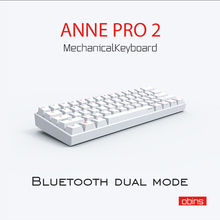 Беспроводная мини клавиатура Anne Pro2 для игр, 60% портативная механическая клавиатура с Bluetooth, синий/коричневый переключатель Gatreon MX, отсоединяемый кабель