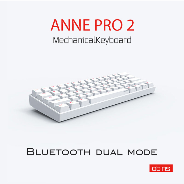 Anne Pro2 mini portable 60% mechanical keyboard wireless bluetooth Gateron mx Blue Brown switch gaming keyboard detachable cable
