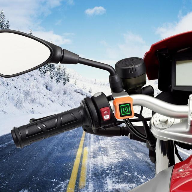 Купить руль мотоциклетный с подогревом 12 в с трехуровневым термостатом картинки цена
