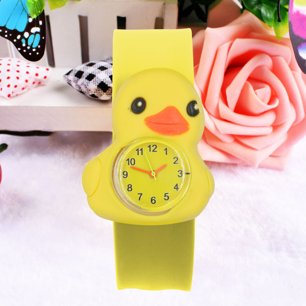 Silicone Tape Multi-color Durable Patted Table Gift Wrist Student Sweet Children Watch Birthday Cartoon Pattern Toys 3D Annimals