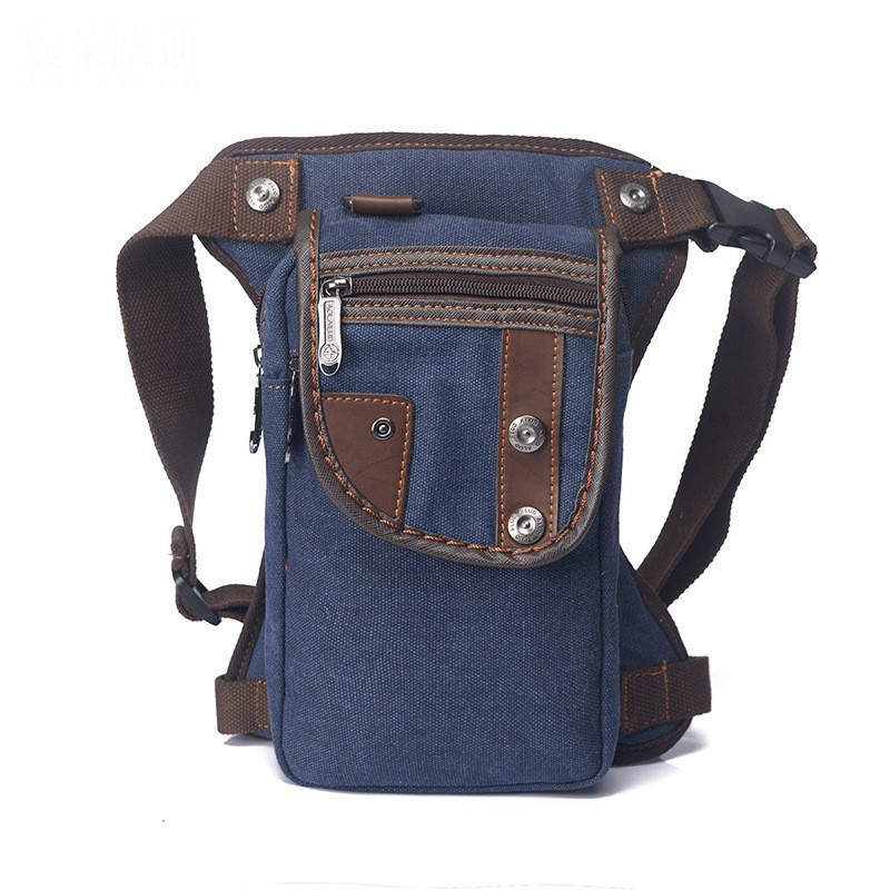 Men Canvas Drop Leg Bag Cross Body Messenger Shoulder Thigh Belt Hip Bum Fanny Waist Pack Travel Motorcycle Riding Hiking Packet