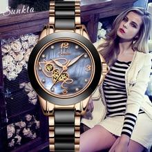 SUNKTA  Rose Gold Watch Women Quartz Watches Ladies Top Brand Luxury Female Wrist Watch Girl Clock Wife Gift Relogio Feminino Ms недорого