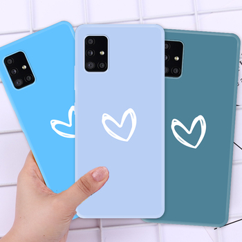Soft Colorful Heart Pattern Case on Galaxy A71 A70 A30 A30S A40 A20 A20e A10 A10e Smartphone Full Cover Case for Samsung A51 A50 image
