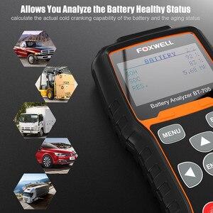 Image 5 - FOXWELL BT705 12V 24V pil test cihazı analizörü arabalar için 100 2000 CCA akü yükü test edicisi marş ve şarj sistemi test