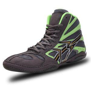 Zapatos profesionales de lucha para hombre, zapatillas de boxeo transpirables de alta calidad, ligeras, para lucha