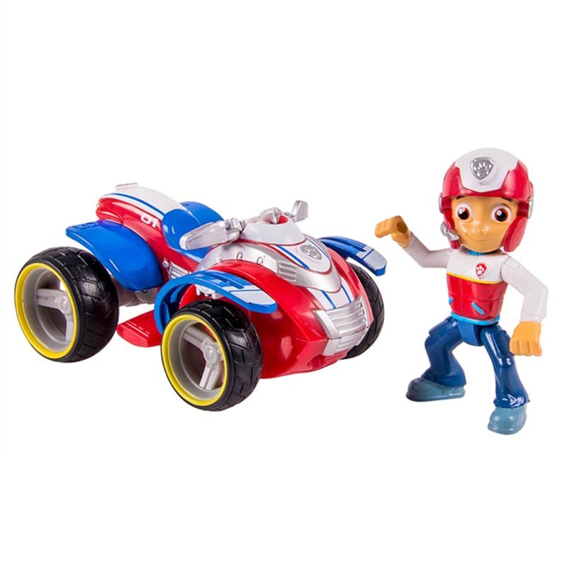 Paw Patrol Toy Captain Ryder Paw Patrol Toys Set Cartoon Anime Deformation Car Paw Patrol Birthday Movable Character Robot Patri