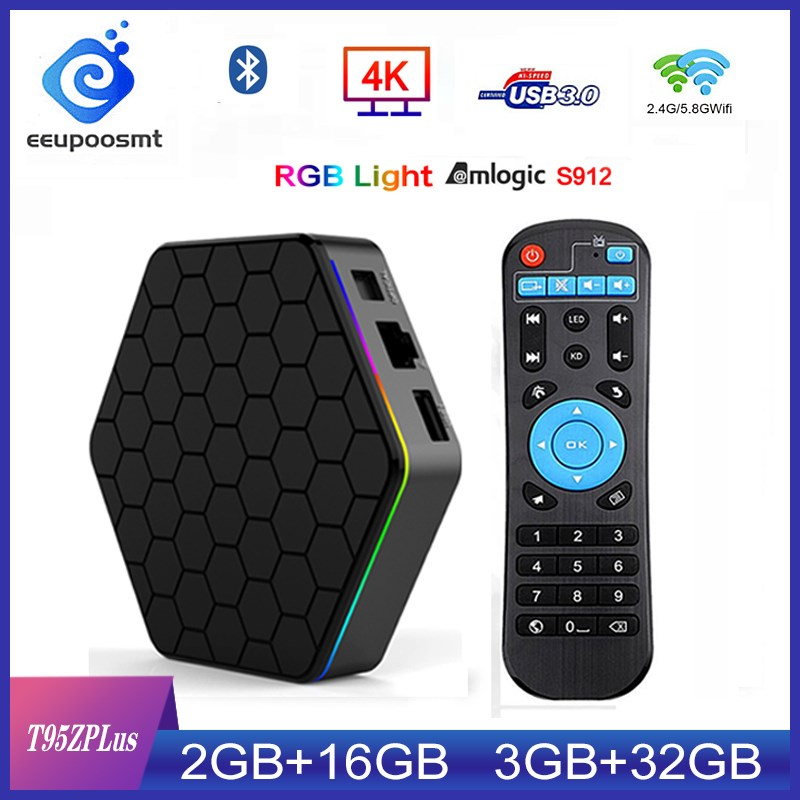 T95Z Plus Smart TV BOX 3 Гб/32 ГБ Восьмиядерный процессор Amlogic S912 8 ядер 64 бит процессор Android 7,1 TV BOX 2,4G/5 ГГц WiFi BT 4,0 4K телеприставка|ТВ-приставки и медиаплееры|   | АлиЭкспресс