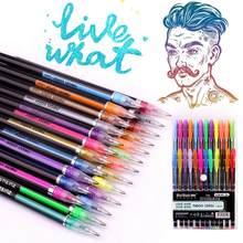 Papelería Set de plumas de Gel-niños colorantes-24 arco iris y Kit de dibujo